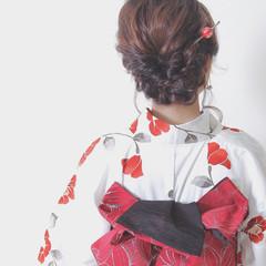ヘアアレンジ 花火大会 夏 お祭り ヘアスタイルや髪型の写真・画像