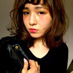 ブラウン 外国人風 ストリート アッシュ ヘアスタイルや髪型の写真・画像