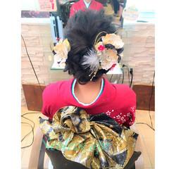 ミディアム 袴 ナチュラル 編み込み ヘアスタイルや髪型の写真・画像