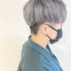 ベリーショート ショート グレーアッシュ アッシュベージュ ヘアスタイルや髪型の写真・画像