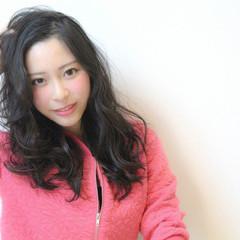波ウェーブ ロング ピュア 艶髪 ヘアスタイルや髪型の写真・画像