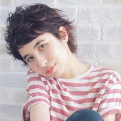 ハイライト ショート 外国人風 ベリーショート ヘアスタイルや髪型の写真・画像
