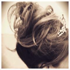 ヘアメイク 結婚式 ロング ヘアアクセ ヘアスタイルや髪型の写真・画像