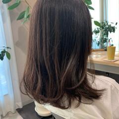 ナチュラル セミロング レイヤーカット 透明感カラー ヘアスタイルや髪型の写真・画像