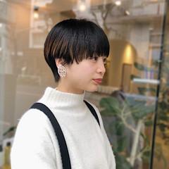 カジュアル 透明感カラー ショート ベリーショート ヘアスタイルや髪型の写真・画像