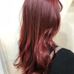 ビビッドカラー ロング 派手髪 ブリーチ ヘアスタイルや髪型の写真・画像