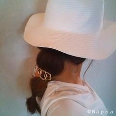 ミディアム ショート 簡単ヘアアレンジ ヘアピン ヘアスタイルや髪型の写真・画像