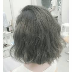 黒髪 アッシュ グラデーションカラー ストリート ヘアスタイルや髪型の写真・画像