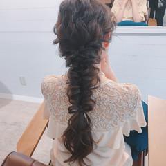 女子会 ヘアアレンジ リラックス 結婚式 ヘアスタイルや髪型の写真・画像