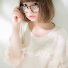 ゆるふわ 外国人風 ボブ グラデーションカラー ヘアスタイルや髪型の写真・画像