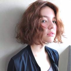 ボブ 外国人風 ストリート センターパート ヘアスタイルや髪型の写真・画像