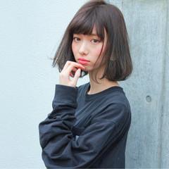 透明感 色気 ナチュラル 前髪あり ヘアスタイルや髪型の写真・画像