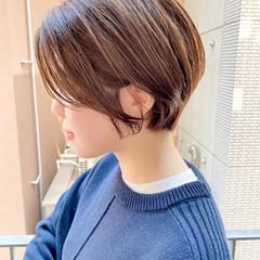 ナチュラル ショートヘア ショートボブ オフィス ヘアスタイルや髪型の写真・画像
