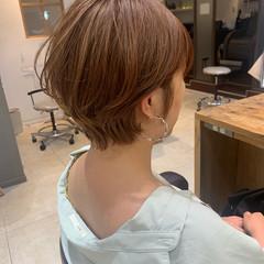 似合わせカット ナチュラル ショートボブ ショート ヘアスタイルや髪型の写真・画像