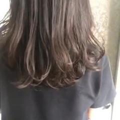 パーマ デジタルパーマ セミロング ゆるふわパーマ ヘアスタイルや髪型の写真・画像