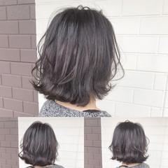 ナチュラル ボブ ブリーチカラー ブリーチオンカラー ヘアスタイルや髪型の写真・画像