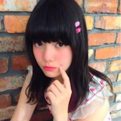 ガーリー 外国人風 ストレート モード ヘアスタイルや髪型の写真・画像