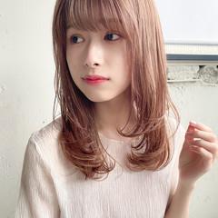 ナチュラル デート ヘアアレンジ 縮毛矯正 ヘアスタイルや髪型の写真・画像