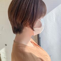 ナチュラル ショートヘア ハンサムショート 小顔ショート ヘアスタイルや髪型の写真・画像