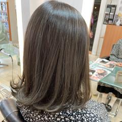 大人女子 切りっぱなしボブ 髪質改善トリートメント 透明感カラー ヘアスタイルや髪型の写真・画像
