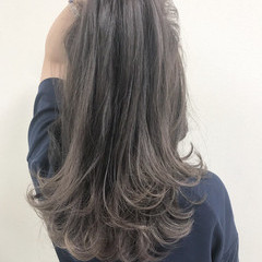 デート ナチュラル 外国人風カラー セミロング ヘアスタイルや髪型の写真・画像