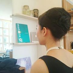 上品 ミディアム エレガント 黒髪 ヘアスタイルや髪型の写真・画像
