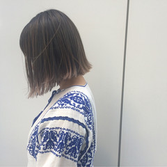 ストリート ボブ グラデーションカラー 外ハネ ヘアスタイルや髪型の写真・画像