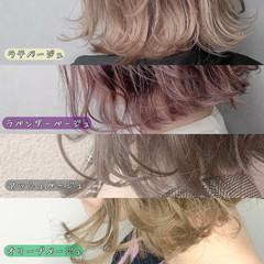 アンニュイ グレージュ ナチュラル 切りっぱなしボブ ヘアスタイルや髪型の写真・画像