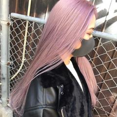 ハイトーン ロング ガーリー ホワイトカラー ヘアスタイルや髪型の写真・画像