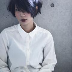 うざバング 大人女子 コンサバ ショート ヘアスタイルや髪型の写真・画像