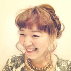 ヘアアレンジ コンサバ アップスタイル 編み込み ヘアスタイルや髪型の写真・画像