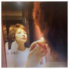 ショート ハイライト 外国人風 パーマ ヘアスタイルや髪型の写真・画像