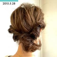 ヘアアレンジ 簡単 コンサバ 二次会 ヘアスタイルや髪型の写真・画像