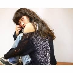 黒髪 ロング ストリート 外国人風 ヘアスタイルや髪型の写真・画像