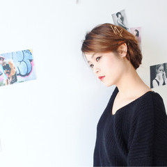 ヘアアレンジ ロング ハイライト 外国人風 ヘアスタイルや髪型の写真・画像