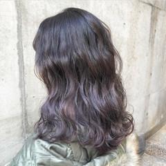 外国人風カラー ストリート ラベンダーアッシュ グラデーションカラー ヘアスタイルや髪型の写真・画像