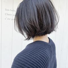切りっぱなしボブ ボブ ナチュラル ショートボブ ヘアスタイルや髪型の写真・画像