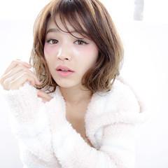 外国人風 ボブ 大人かわいい フェミニン ヘアスタイルや髪型の写真・画像