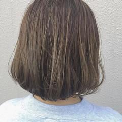 ナチュラル ハイライト アッシュ ボブ ヘアスタイルや髪型の写真・画像