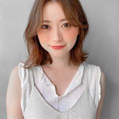 デジタルパーマ 透明感カラー パーマ ナチュラル ヘアスタイルや髪型の写真・画像