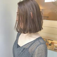 ワンカール オフィス かわいい ボブ ヘアスタイルや髪型の写真・画像