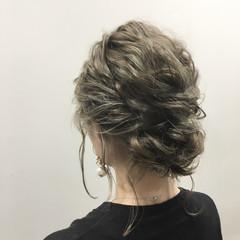 波ウェーブ ヘアアレンジ 夏 ボブ ヘアスタイルや髪型の写真・画像