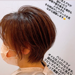 ウルフカット ショートヘア ナチュラル ベリーショート ヘアスタイルや髪型の写真・画像