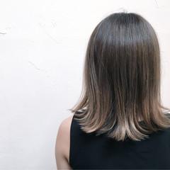 グラデーションカラー 外国人風 ボブ アッシュ ヘアスタイルや髪型の写真・画像