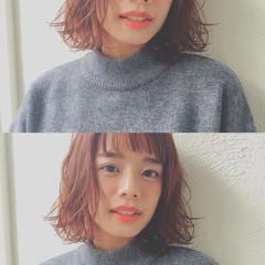 色気 ナチュラル パーマ 冬 ヘアスタイルや髪型の写真・画像
