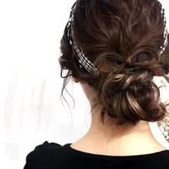 ヘアアレンジ ミディアム ガーリー エクステ ヘアスタイルや髪型の写真・画像