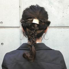 セミロング ナチュラル ヘアアレンジ 成人式 ヘアスタイルや髪型の写真・画像
