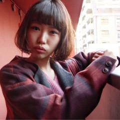 大人女子 前髪あり ボブ 小顔 ヘアスタイルや髪型の写真・画像