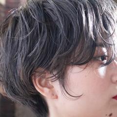 ハンサムショート 外国人風 ナチュラル ショートボブ ヘアスタイルや髪型の写真・画像