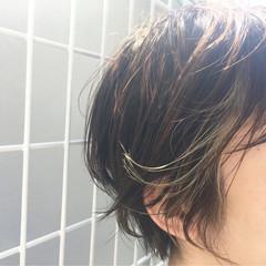 ハイライト ショート インナーカラー イルミナカラー ヘアスタイルや髪型の写真・画像